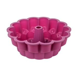Fuchsiově růžová silikonová forma na bábovku Tantitoni It´s a cake, ⌀ 26 cm