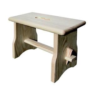 Stolička z borovicového dřeva Valdomo Italia, výška 20 cm