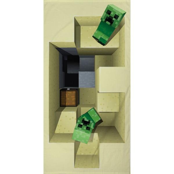 Prosop din bumbac pentru copii Halantex Minecraft, 70 x 140 cm
