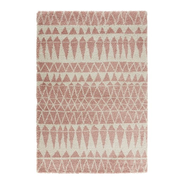 Covor Mint Rugs Allure Rose, 80 x 150 cm, gri-roz