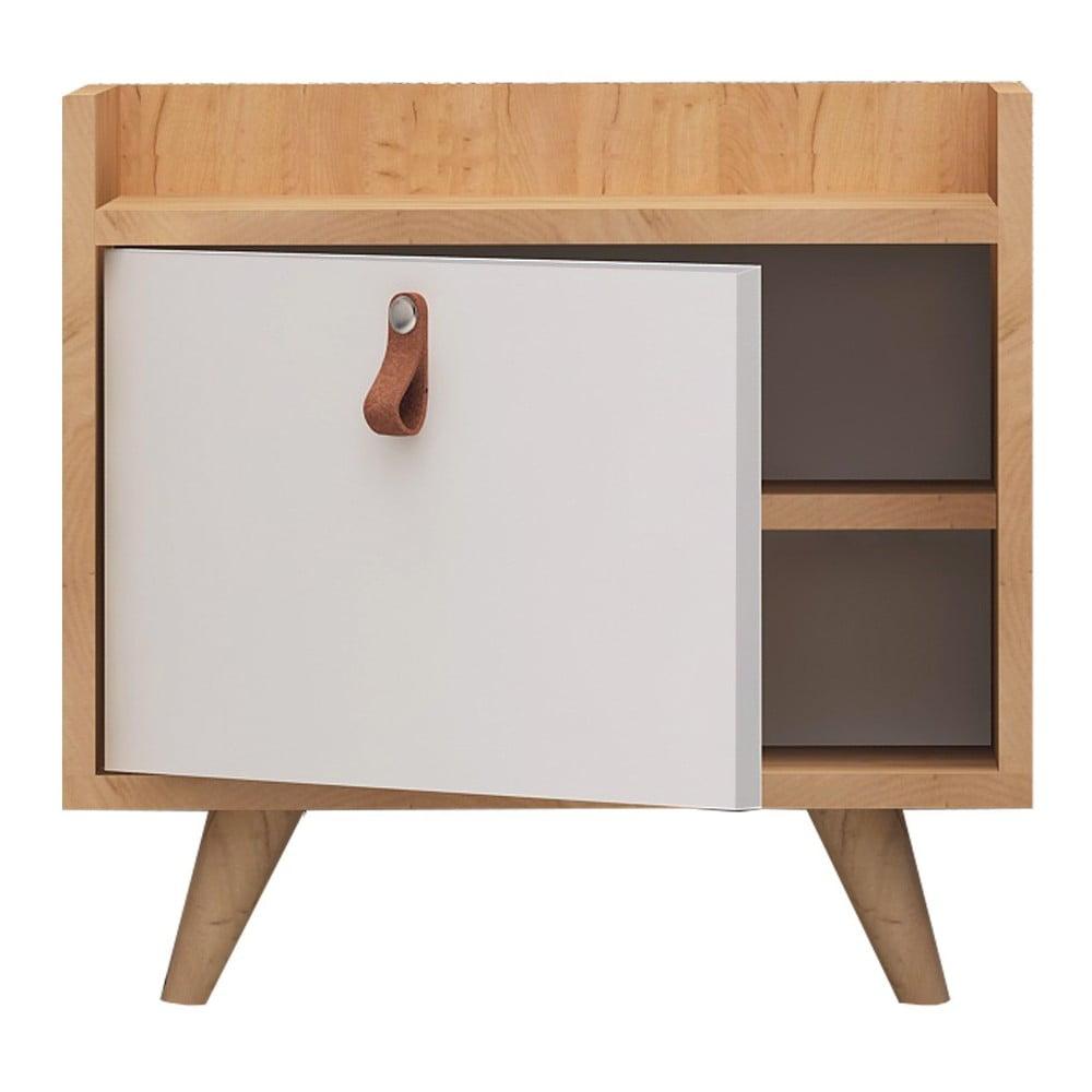 Noční stolek s dubovým dekorem Doppo