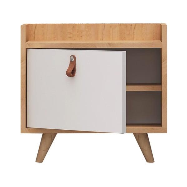 Nočný stolík s dubovým dekorom Doppo