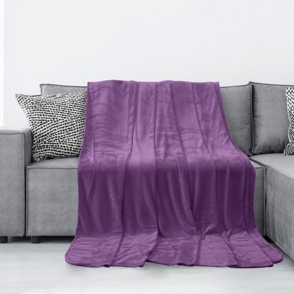 Fialová deka z mikrovlákna AmeliaHome Tyler, 150 x 200 cm