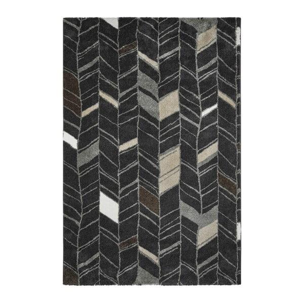 Tmavě šedý ručně vyráběný koberec Obsession My Soho Anth, 120 x 170 cm