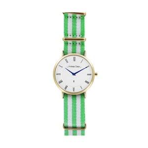 Pánské hodinky se zelenobílým páskem Andreas Östen Wello