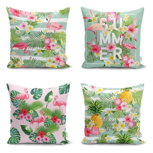 Set 4 fețe de pernă Minimalist Cushion Covers Naturia, 45 x 45 cm