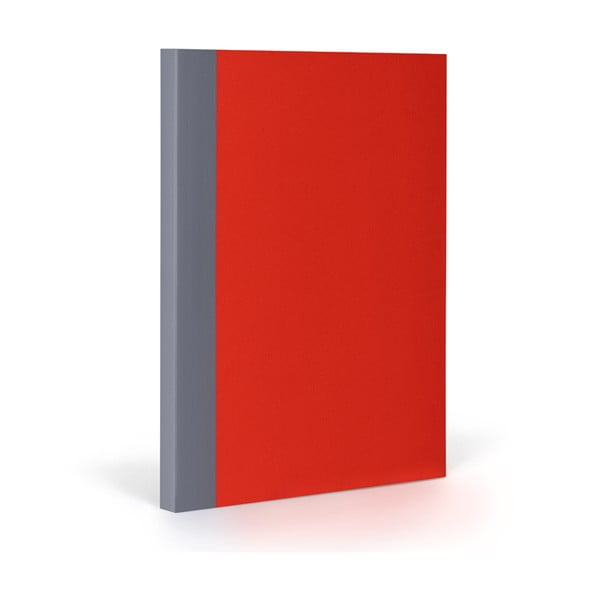 Zápisník FANTASTICPAPER XL Cherry/Grey, čtverečkový