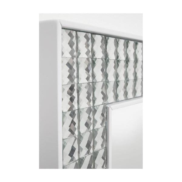 Nástěnné zrcadlo Kare Design Crystals White, 80x60cm