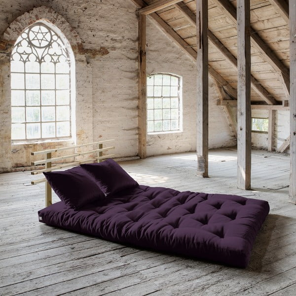 Rozkládací pohovka Karup Shin Sano Natur/Purple