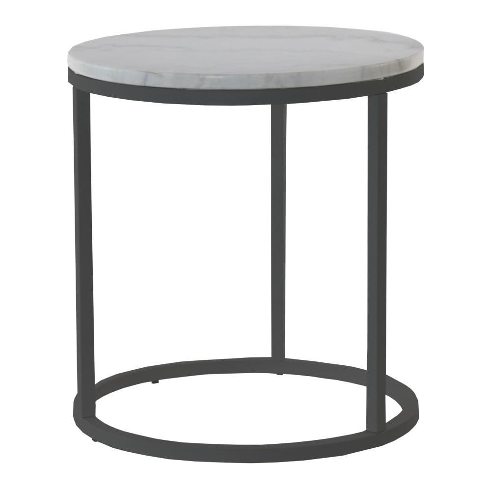 Mramorový odkládací stolek s černou konstrukcí RGE Accent, ⌀50cm