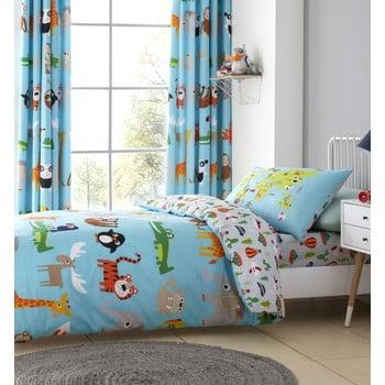 Lenjerie de pat pentru copii Catherine Lansfield Animal Adventure, 135 x 200 cm imagine