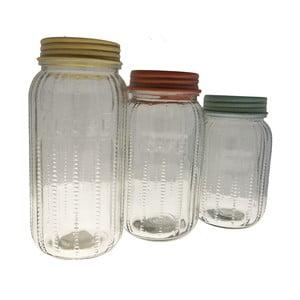Sada 3 skleněných dóz Jar