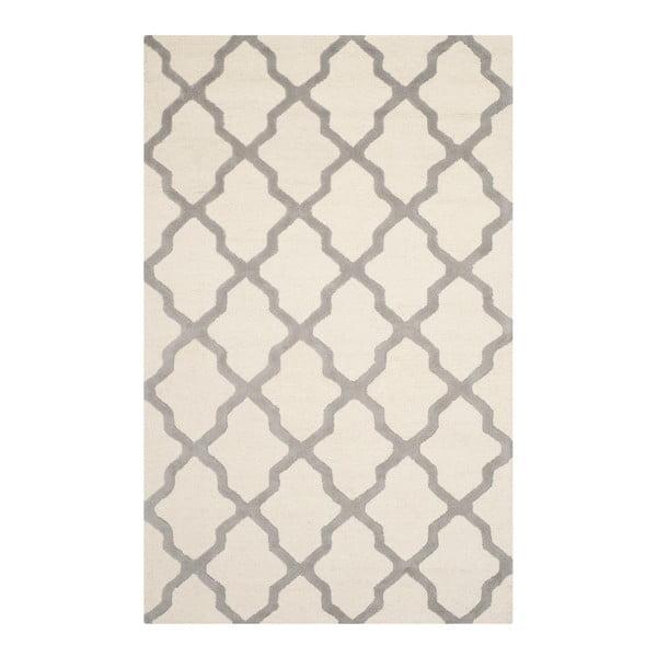 Vlněný koberec Safavieh Ava White Orange, 274 x 182 cm
