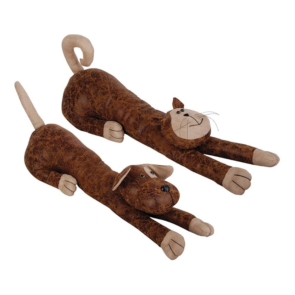 Sada 2 zarážek do dveří Esschert Design Kočka a pes