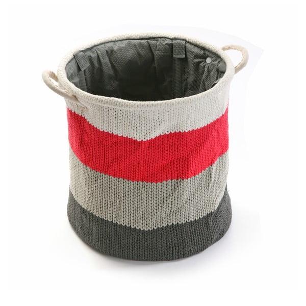 Úložný košík Stripes Knitted, 36x38 cm