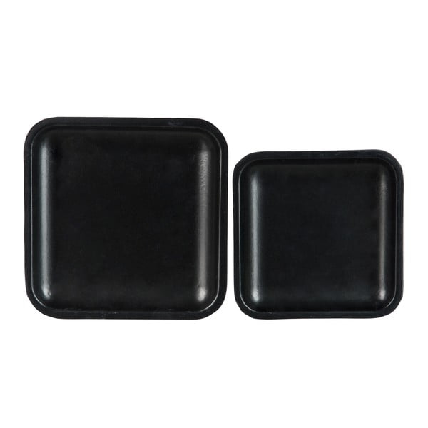 Sada 2 podnosů Plate Black, 25 cm