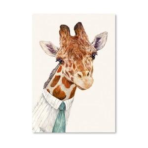 Plakát Mr. Giraffe, 30x42 cm