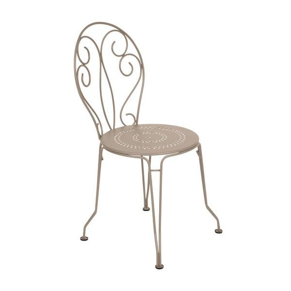 Světle béžová kovová židle Fermob Montmartre