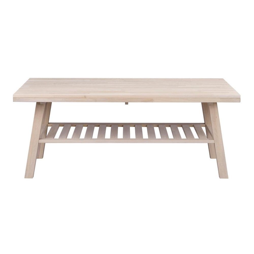 Matně lakovaný dubový konferenční stolek Folke Brooklyn