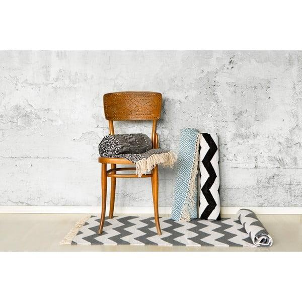 Koberec Solveig Black/White, 70x200 cm z kavárny U Kubistů