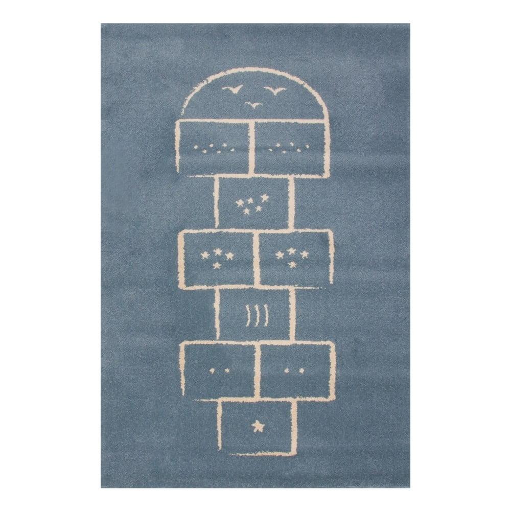 Modrý koberec Art For Kids Hopscotch, 100 x 150 cm