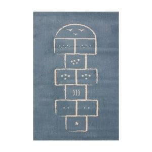 Modrý koberec Art For Kids Hopscotch, 100x150cm