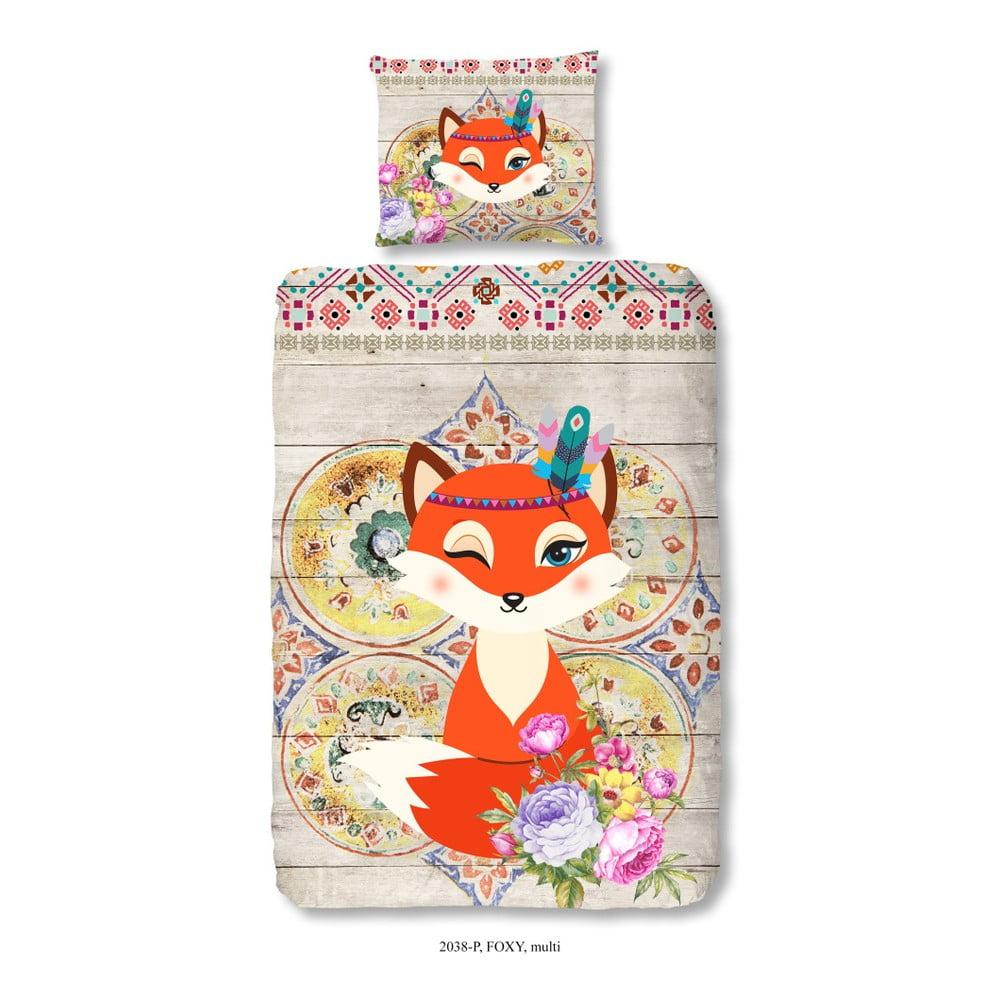 Dětské bavlněné povlečení na jednolůžko Good Morning Foxy, 140 x 200 cm
