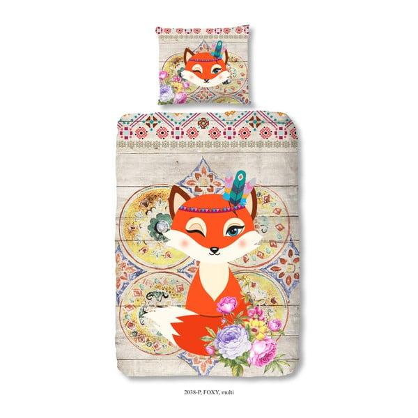 Detské bavlnené obliečky na jednolôžko Good Morning Foxy, 140×200 cm