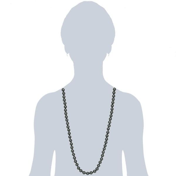 Perlový náhrdelník Muschel, zelené perly 8 mm, délka 90 cm