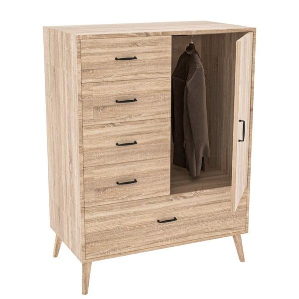 Zevait világos barna ruhásszekrény