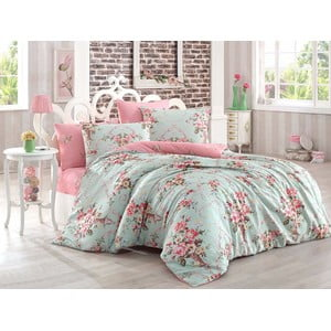 Lenjerie de pat cu cearșaf Queen Bed, 200 x 220 cm