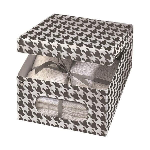 Úložná krabice Ordinett Pied Poule, 50x40cm