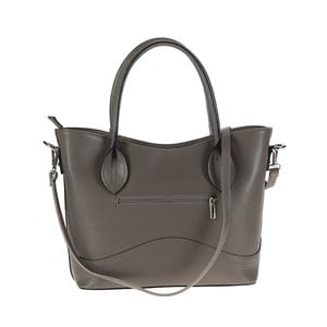 Šedá kožená kabelka Tina Panicucci Baso
