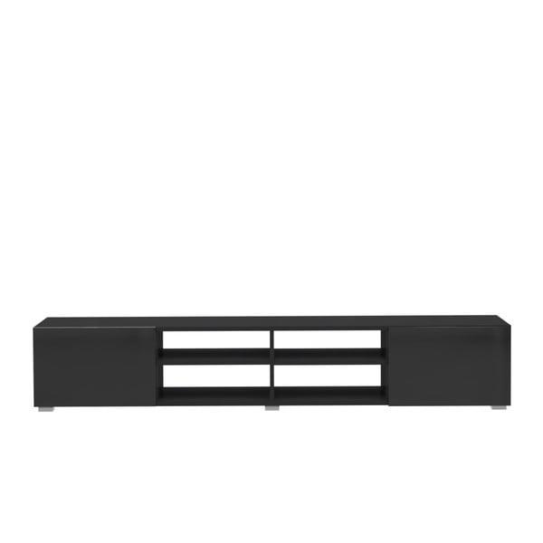 Černý televizní stolek Symbiosis Jacqueline Quatre, šířka185cm