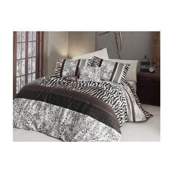 Lenjerie de pat cu cearșaf Cheta, 200 x 220 cm de la Nazenin Home