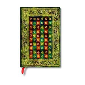 Zápisník s tvrdou vazbou Paperblanks Verde, 9,5x14cm