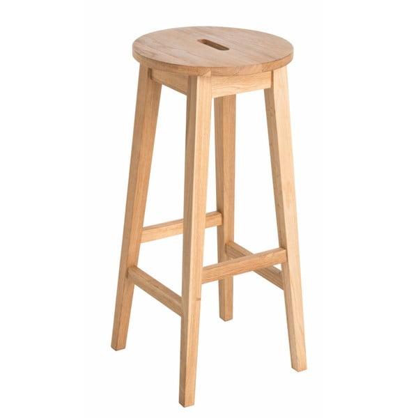 Prírodná barová stolička z dubového dreva Rowico Frigg