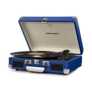 Tmavě modrý gramofon Crosley Cruiser Deluxe