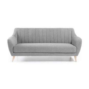 Canapea cu 3 locuri La Forma Off, gri deschis de la La Forma