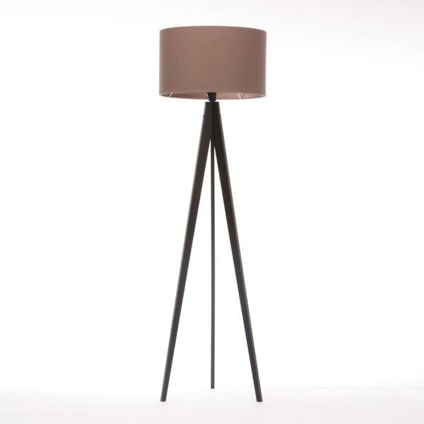 Stojací lampa Artist Dark Taupe Felt/Black Birch, 125x42 cm