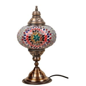 Skleněná lampa Homemania Persefona, ⌀17cm