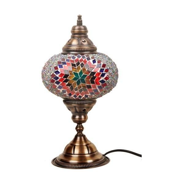 Skleněná ručně vyrobená lampa Persefona, ⌀17cm