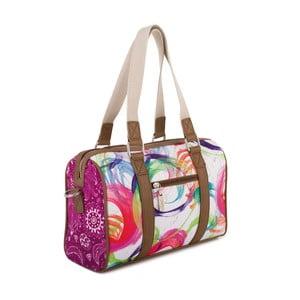 Bílo-růžová kabelka SKPA-T , 30 x 19 cm