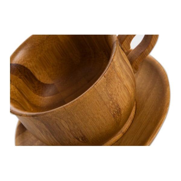 Šálek s podšálkem z bambusového dřeva Bambum Cortado, 120ml