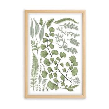 Tablou cu ramă din lemn de pin Surdic Leafes Collection, 50 x 70 cm poza