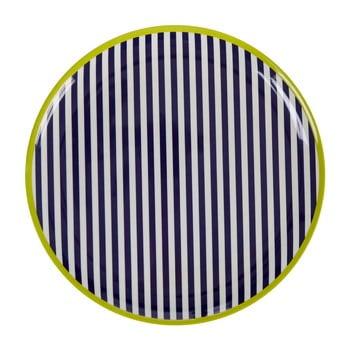 Farfurie Premier Housewares Mimo Stripes, ⌀36cm, alb - negru