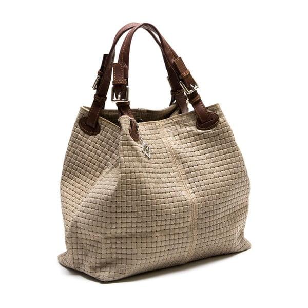 Kožená kabelka Lola, šedohnědá