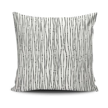 Față de pernă Calento Julo, 45 x 45 cm, negru – alb de la Cushion Love
