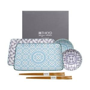 6dílný modro-fialový set Tokyo Design Studio Geo Eclectic