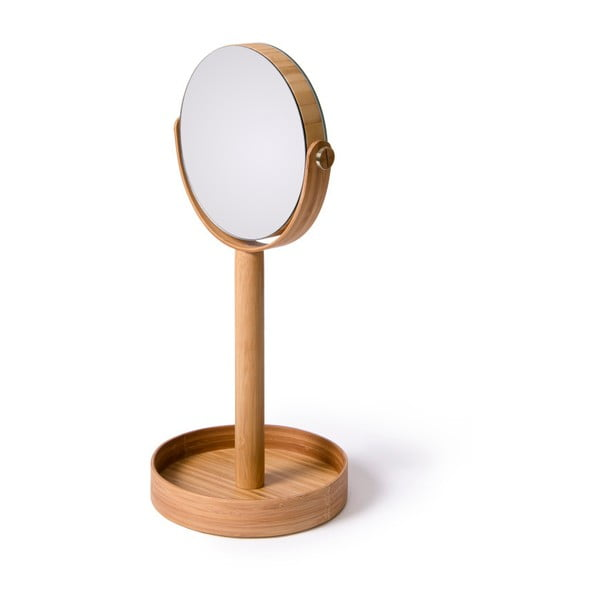 Stolní zrcadlo s poličkou Magnify Bamboo